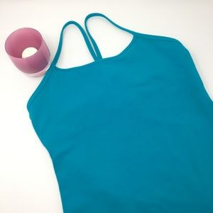 Lululemon Teal Power Y tank. Size 8